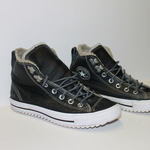 Converse Faux Fur Lined High Top Sneakers